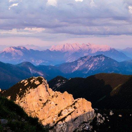 Rotwand Gipfel Sonnenuntergang Wilder Kaiser