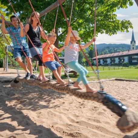 Familie am Schliersee, Spielplatz, © Dietmar Denger