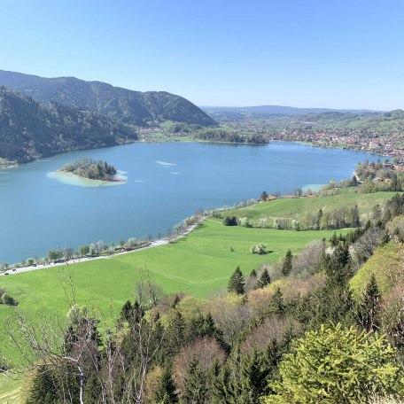 Schöne Höhenwanderung mit Blick über den Schliersee, © forelleschliersee