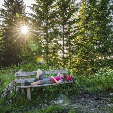 Durchatmen und Entspannen nach der Wanderung, © Dietmar Denger
