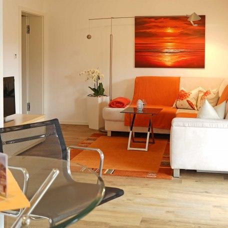 Wohnzimmer Apartment Möwe, © im-web.de/ Gäste-Information Schliersee in der vitalwelt schliersee